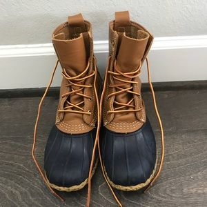 8 inch navy bean boots